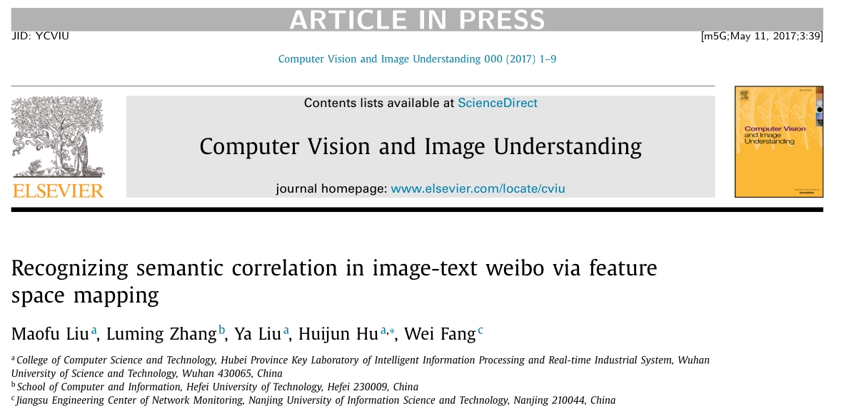 论文-刘茂福-SCI-Recognizing Semantic Correlation in Image-text Weibo via Feature Space Mapping.jpg